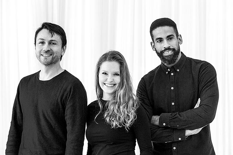 Javier Báez (Schulleiter), Sina Rundel (Assistentin der Schulleitung) und Raul Valdez (Künstlerischer Leiter) von der CDSH – Contemporary Dance School Hamburg